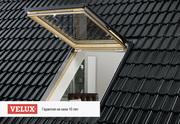 Классическое деревянное мансардное окно Velux