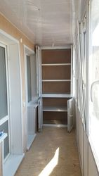 Обшивка балконной стены с  откосами балконного блока.